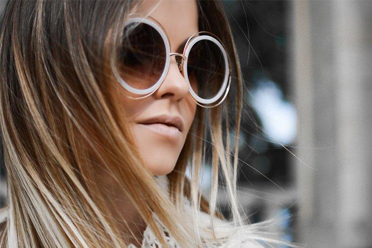 Women Wear White Sunglasses