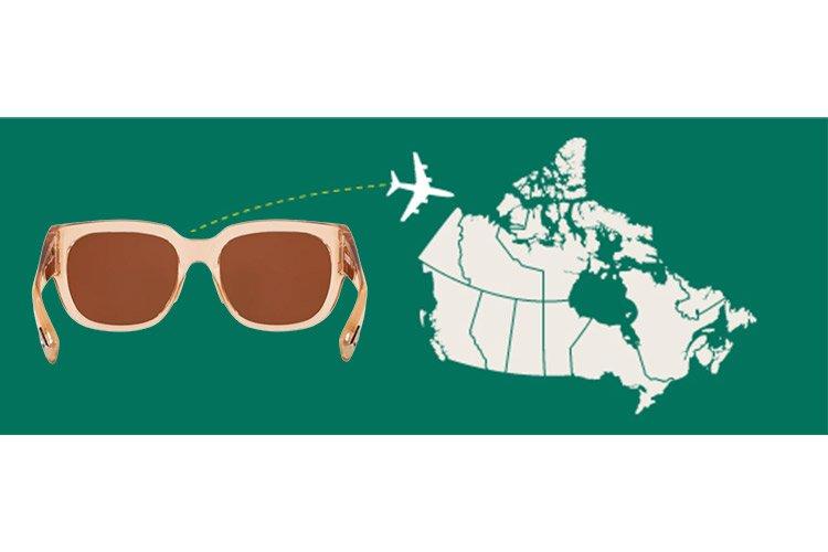 import sunglasses into canada